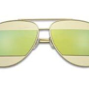 Kiss Accessories - CUT-OUT MIRRORED AVIATOR SUNGLASSES GREEN NEW
